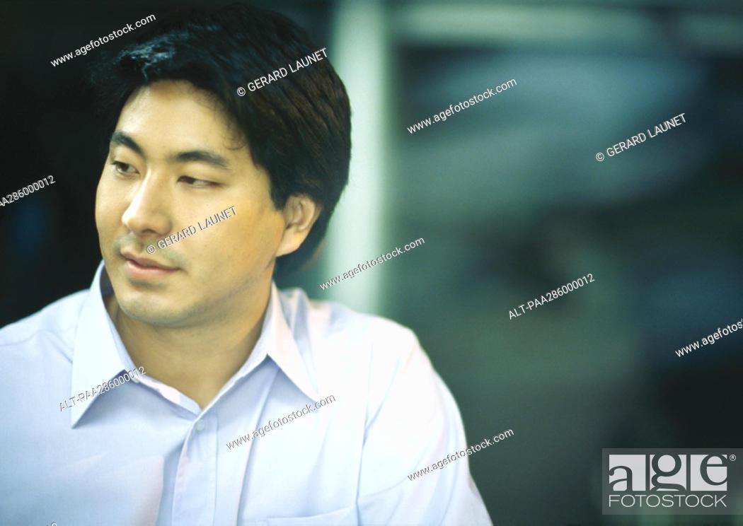 Stock Photo: Man in button down shirt.