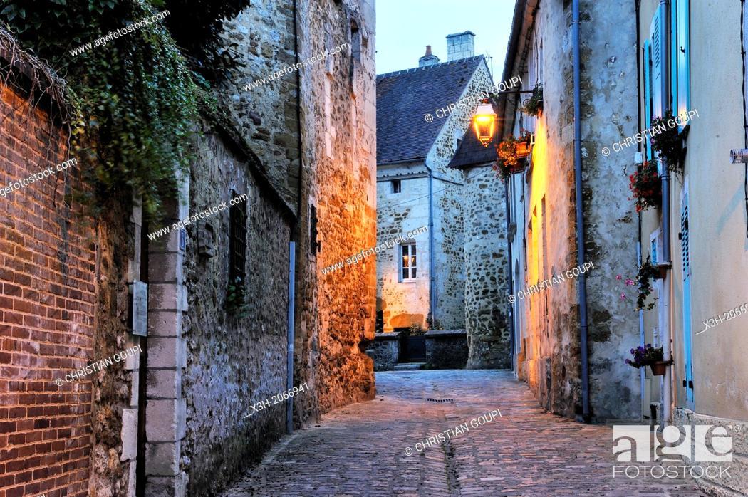 Stock Photo: Toussaint street, Mortagne-au-Perche, Regional Natural Park of Perche, Orne department, Lower Normandy region, France, Western Europe.