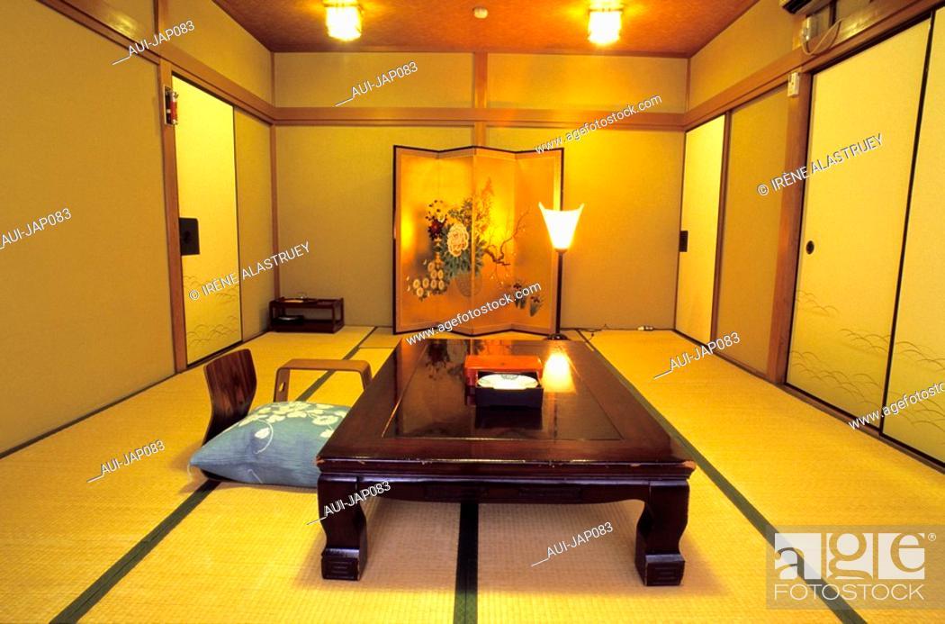 Stock Photo: Japan - Kyoto - Ryokan Motonago Hotel.