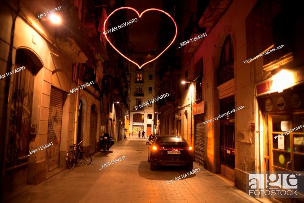 Stock Photo: heart-shaped light.