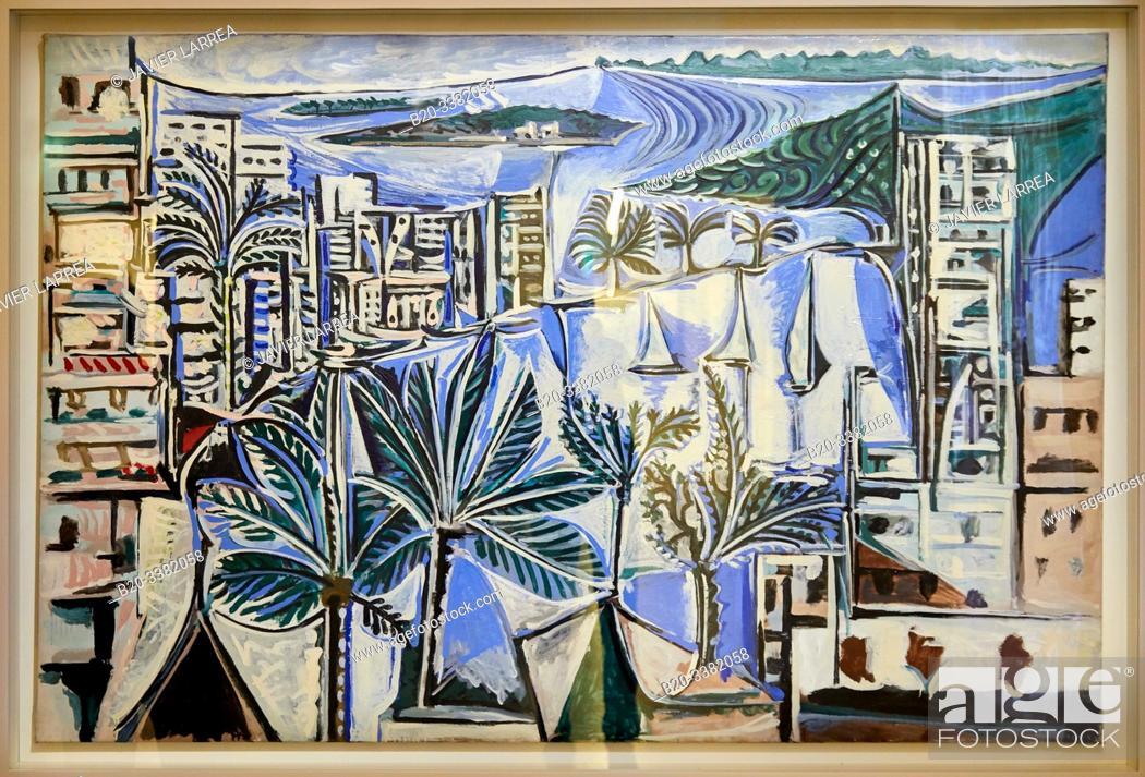 """Stock Photo: """"La Baie de Cannes"""", 1958, Pablo Picasso, Picasso Museum, Paris, France, Europe."""