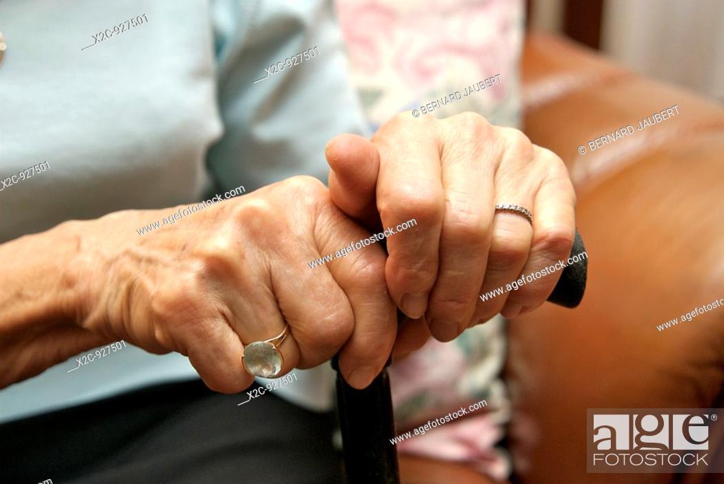 Stock Photo: Elderly hands.