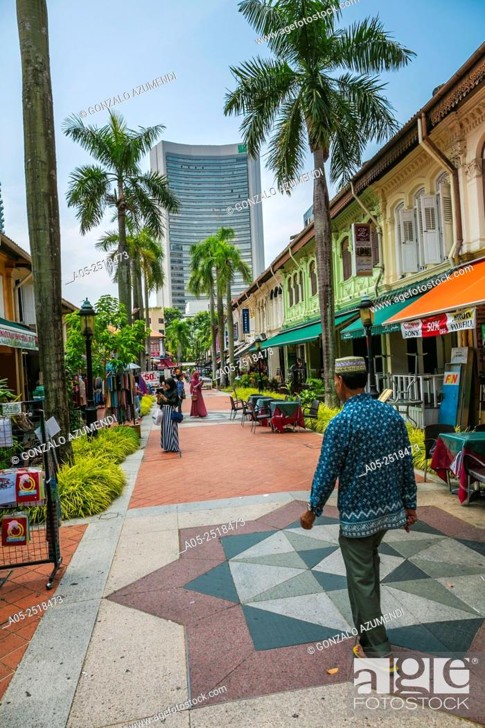 Stock Photo: Malay Quarter. Arab Street District. Kampong Glam. Singapore. Asia.
