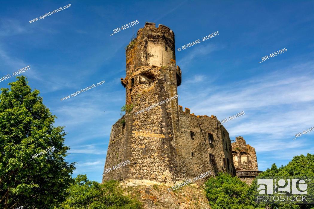 Stock Photo: Medieval Castle of Tournoel, Volvic, Puy de Dome department, Auvergne, France.