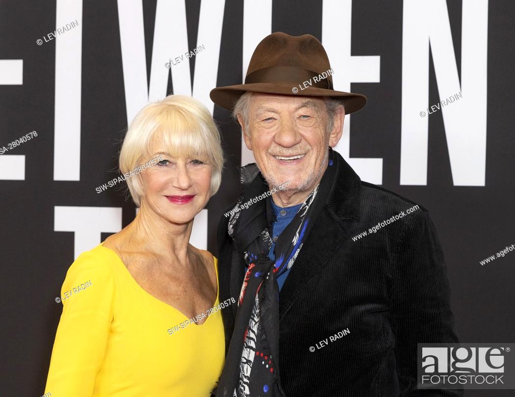 Stock Photo: (11/6/2019) Dame Helen Mirren and Sir Ian McKellen attend The Good Liar premiere at 787 7th Avenue in Manhattan (Photo by Lev Radin/Pacific Press/Sipa USA).
