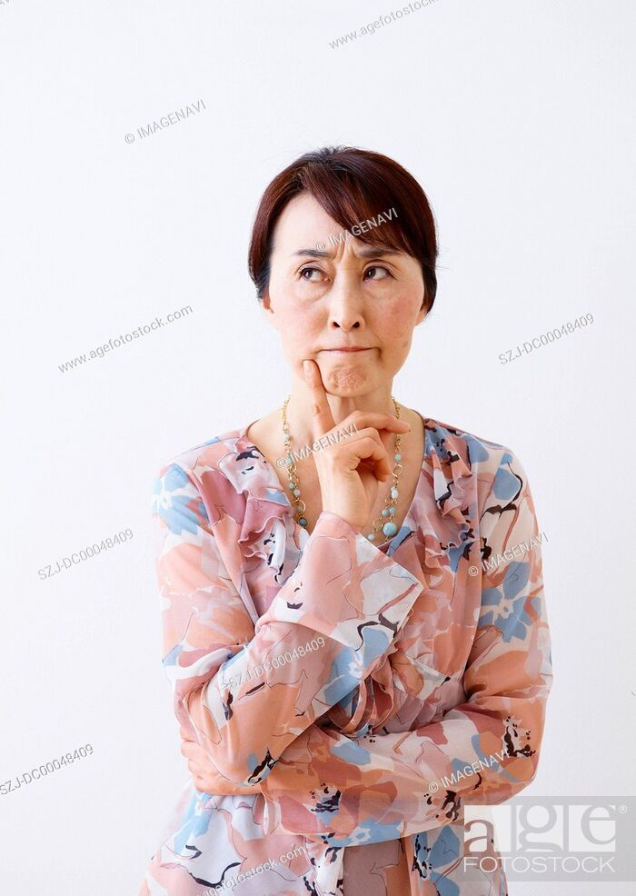 Stock Photo: Angry senior woman.