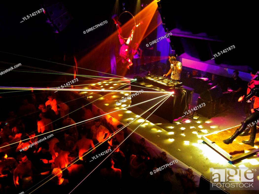 Stock Photo: Paris, France, Gay Nightclub, Gays Dancing, Scream Party Night, La Machine CLub du Moulin Rouge.