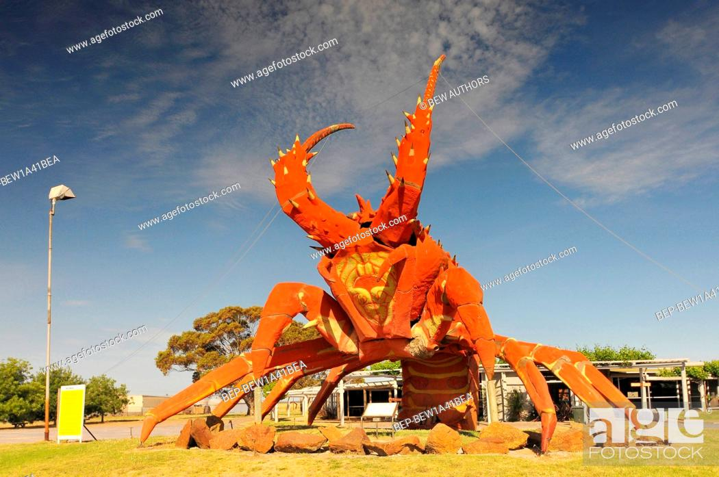 48978c790e Stock Photo - Australia, South Australia, Kingston SE, the Big Lobster  sculpture located at the entrance to the town