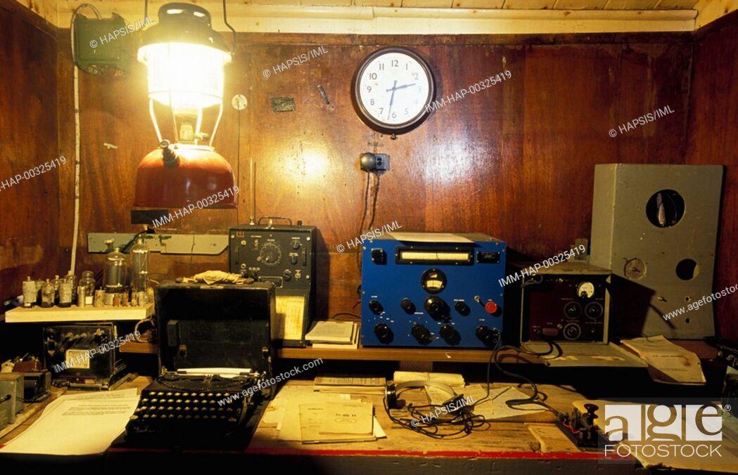 Stock Photo: Port Lockroy, Bransfield House, Antarctica.