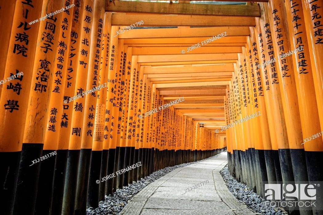 Stock Photo: Details of the Fushimi-Inari-Taisha shrine, Kyoto, Japan, Asia.