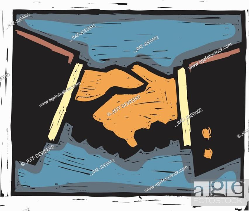 Stock Photo: handshake.