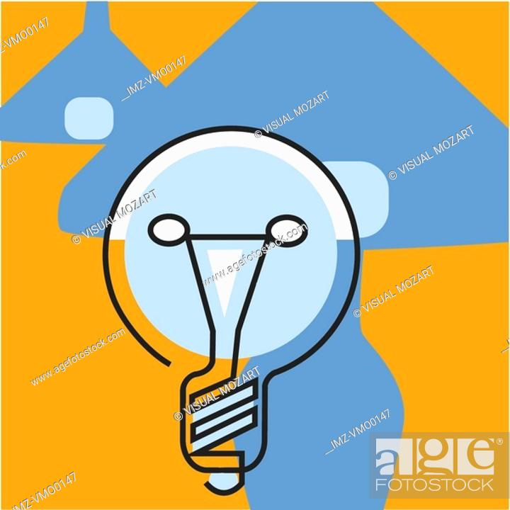 Stock Photo: Lightbulb.