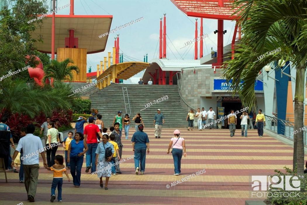 Stock Photo: seafront Malecon 2000 in Guayaquil.