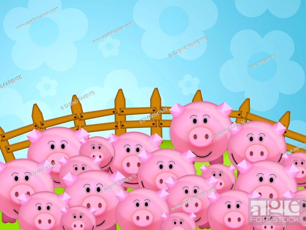 Stock Photo: Pig.