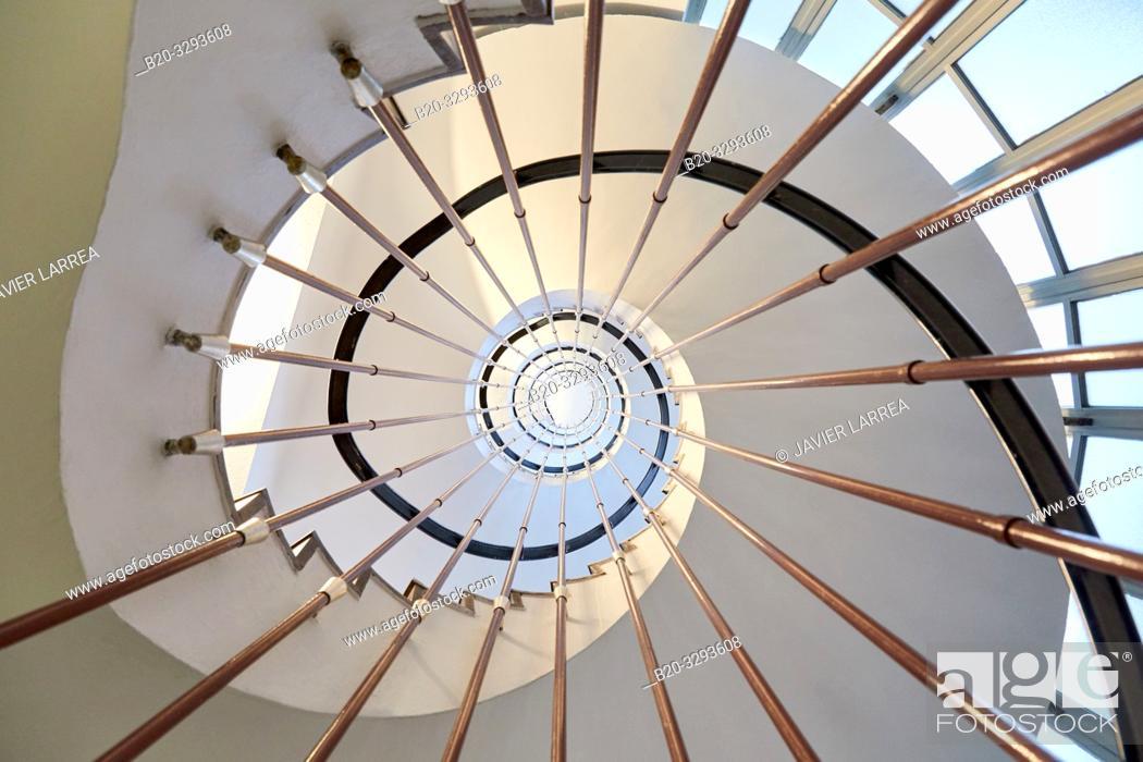 Stock Photo: Stairs, Hospital Donostia, San Sebastian, Gipuzkoa, Basque Country, Spain.
