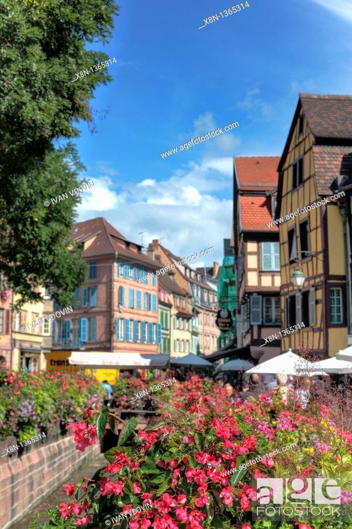 Stock Photo: 'Little Venice', Colmar, Haut-Rhin department, Alsace, France.