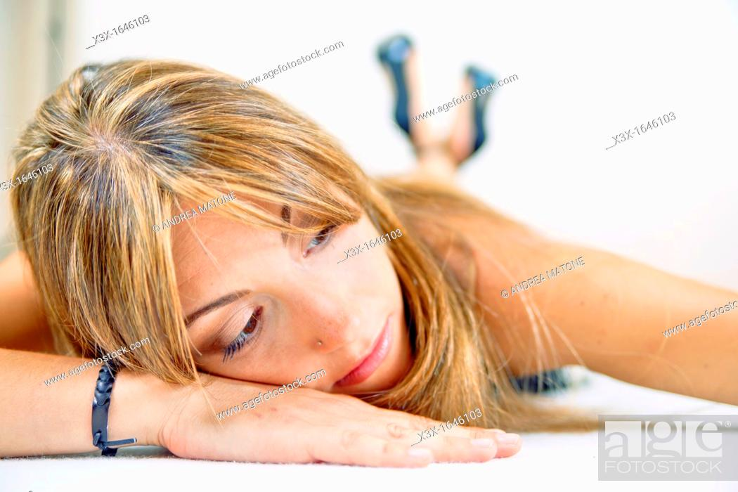 Stock Photo: Woman model resting.
