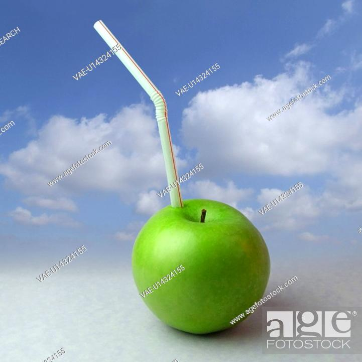 Stock Photo: drink, apples, juice, fruit, fruits, sweet, apple.
