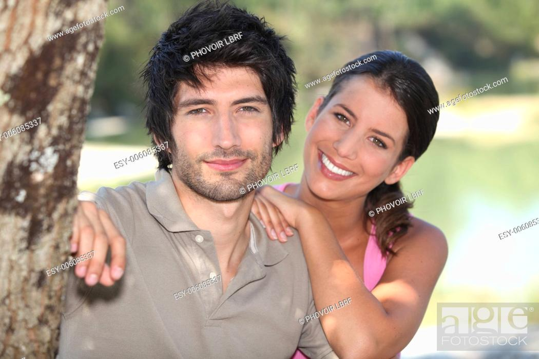 Stock Photo: Couple enjoying a beautiful day out together.