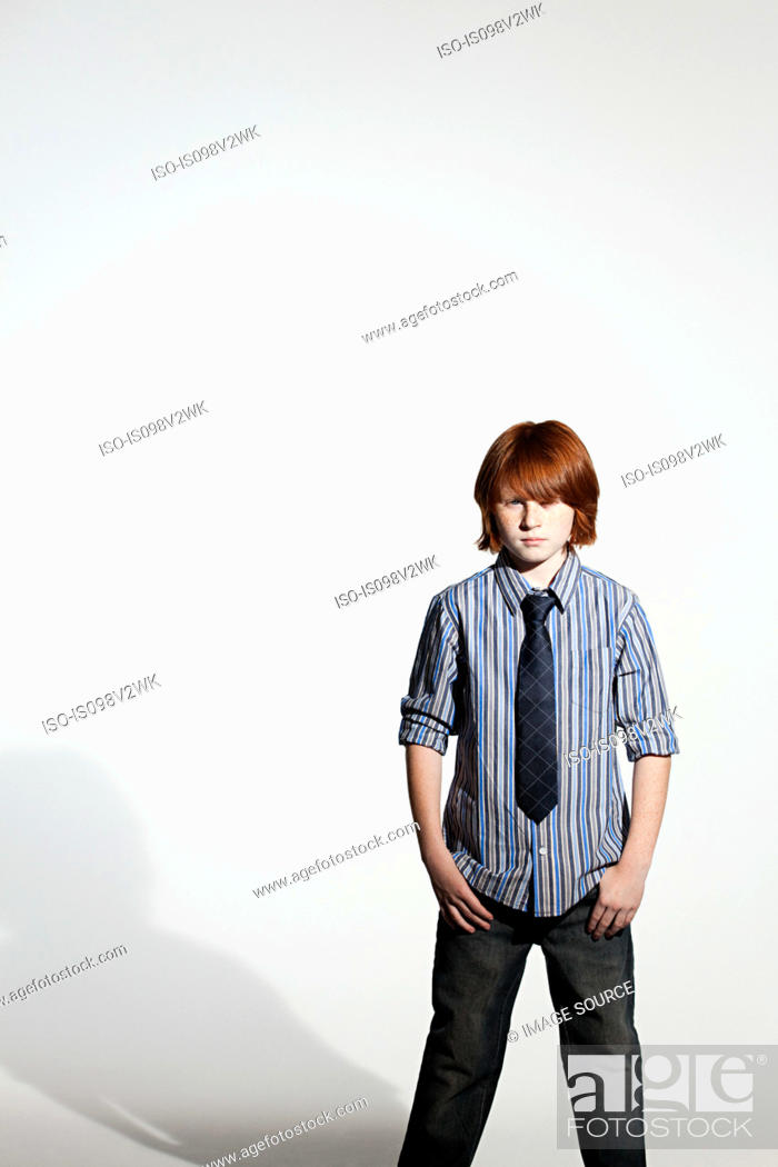 Stock Photo: Boy in a shirt and tie.