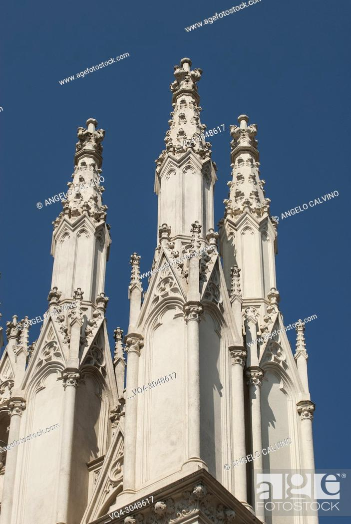 Stock Photo: Details of the Church of the Sacred Heart of Jesus in Prati (also known as Chiesa del Sacro Cuore del Suffragio) in centre of Rome (Italy).