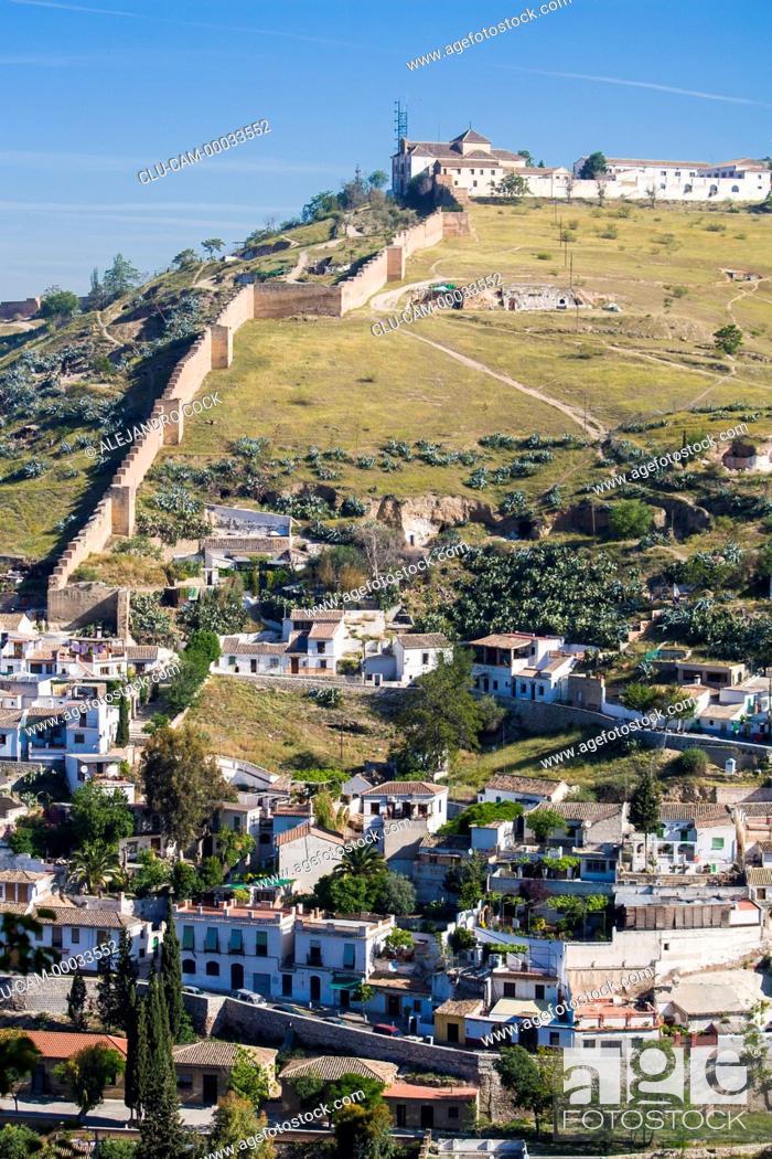 Stock Photo: Ziri Wall, Granada, Andalusia, Spain, Europe.