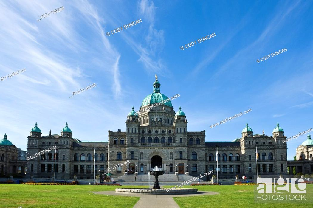 Stock Photo: Parliment buildings, Victoria, British Columbia, Canada.