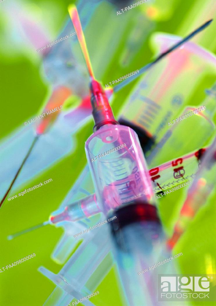 Stock Photo: Syringes, close-up.