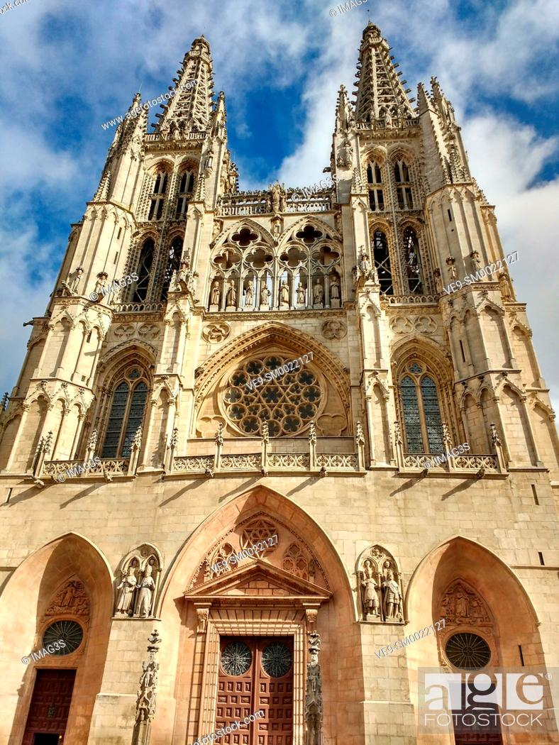 Stock Photo: Burgos cathedral, Burgos, Castile and Leon, Spain.