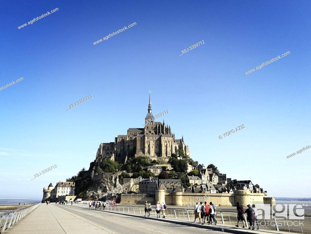 Stock Photo: France, Normandy, Le Mont-Saint-Michel.