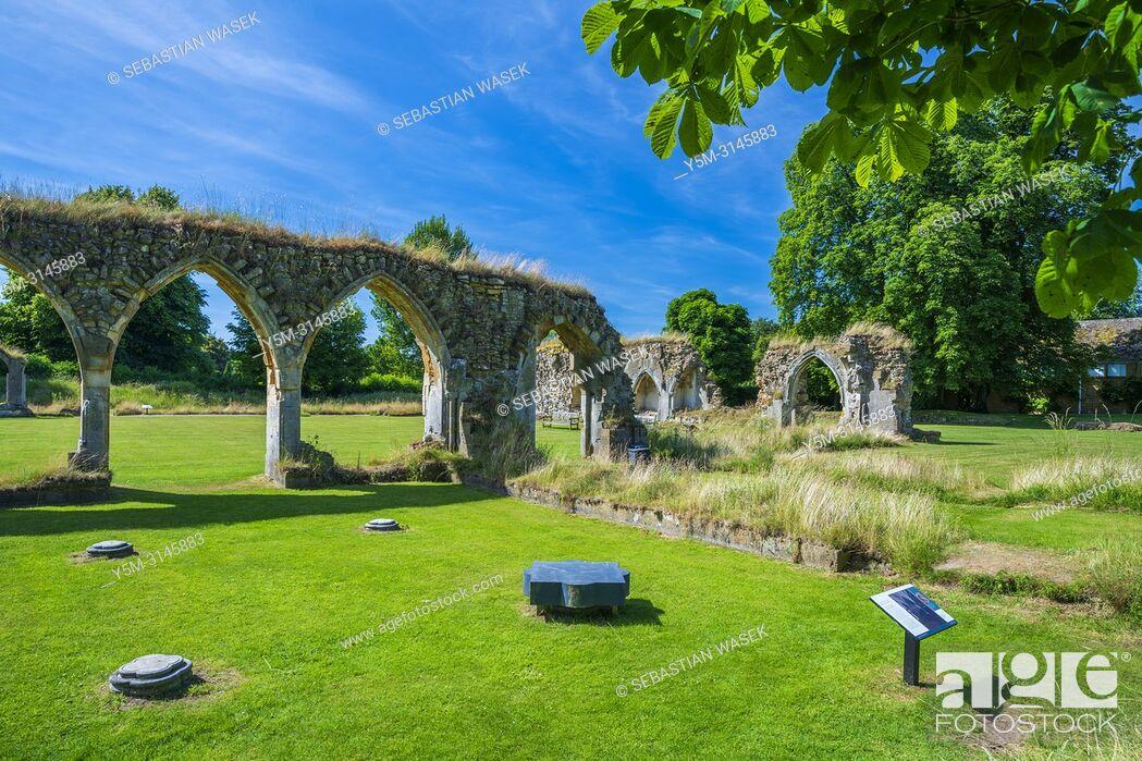 Stock Photo: Hailes Abbey, Gloucestershire, England, United Kingdom, Europe.