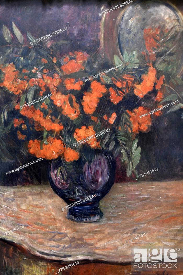 Stock Photo: Bouquet de sorbier, 1884, painting by Paul Gauguin, State Hermitage museum, St Petersburg Russia, Europe.