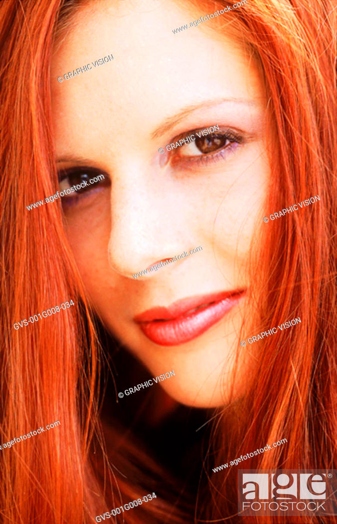 Stock Photo: Close-up of a woman's face.