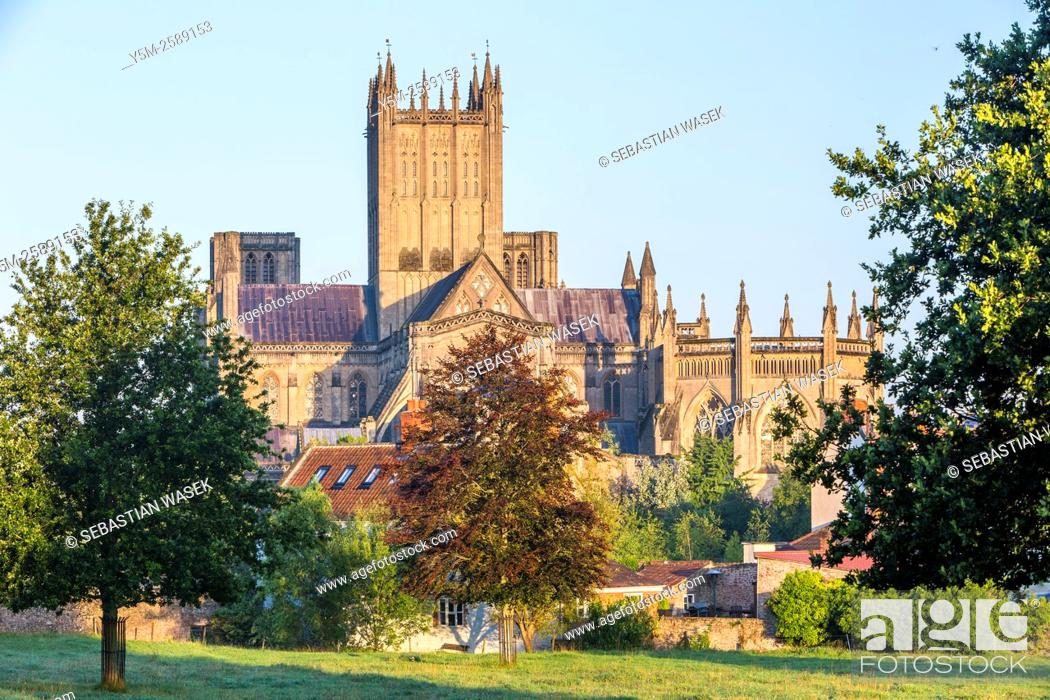 Stock Photo: Wells Cathedral, Somerset, England, United Kingdom, Europe.
