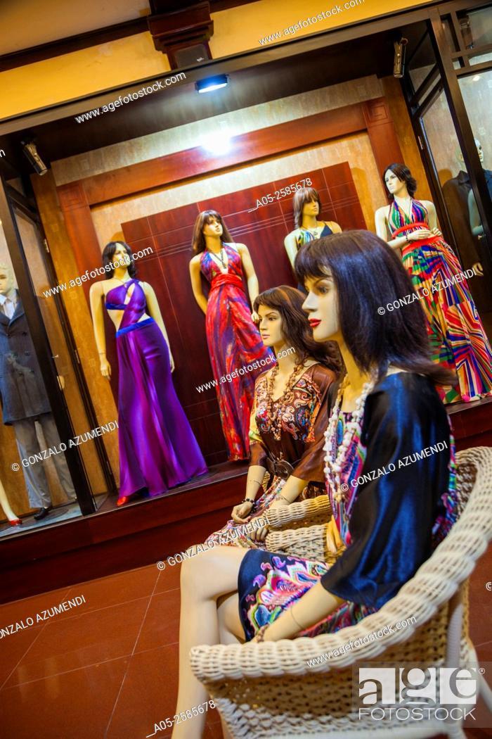 Stock Photo: Clothes Shop. Hoi An. Centre of Vietnam. Asia.