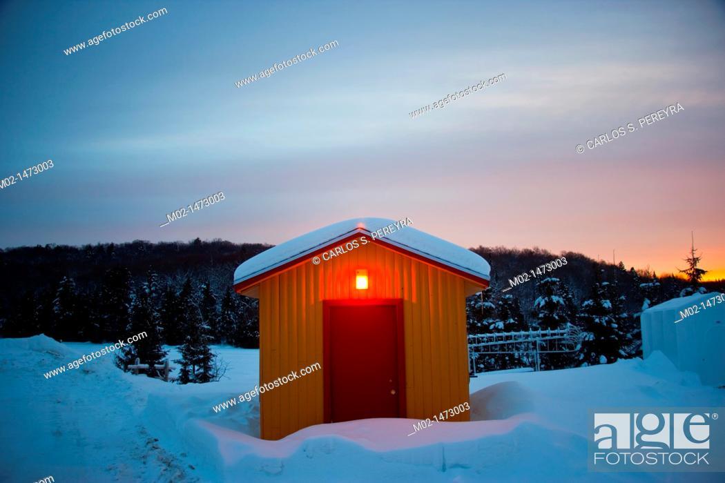Stock Photo: Winter in Quebec, Canada.