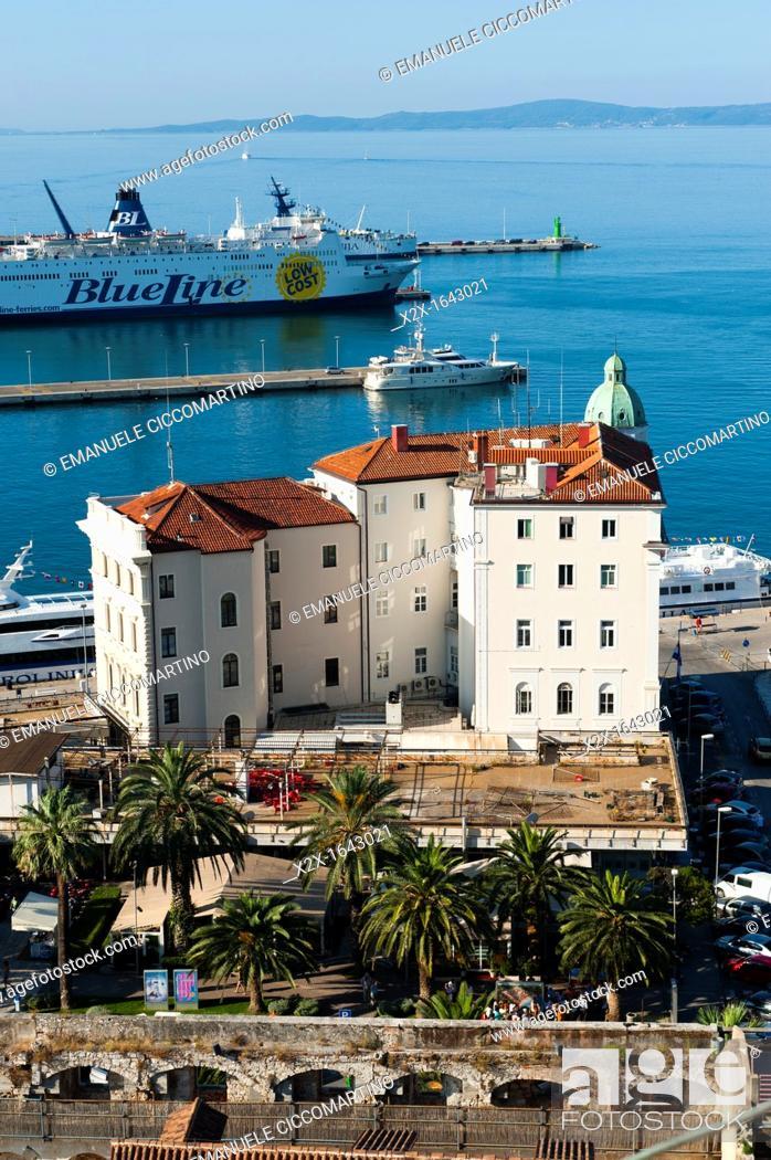 Stock Photo: City view of Split, region of Dalmatia, Croatia, Europe.