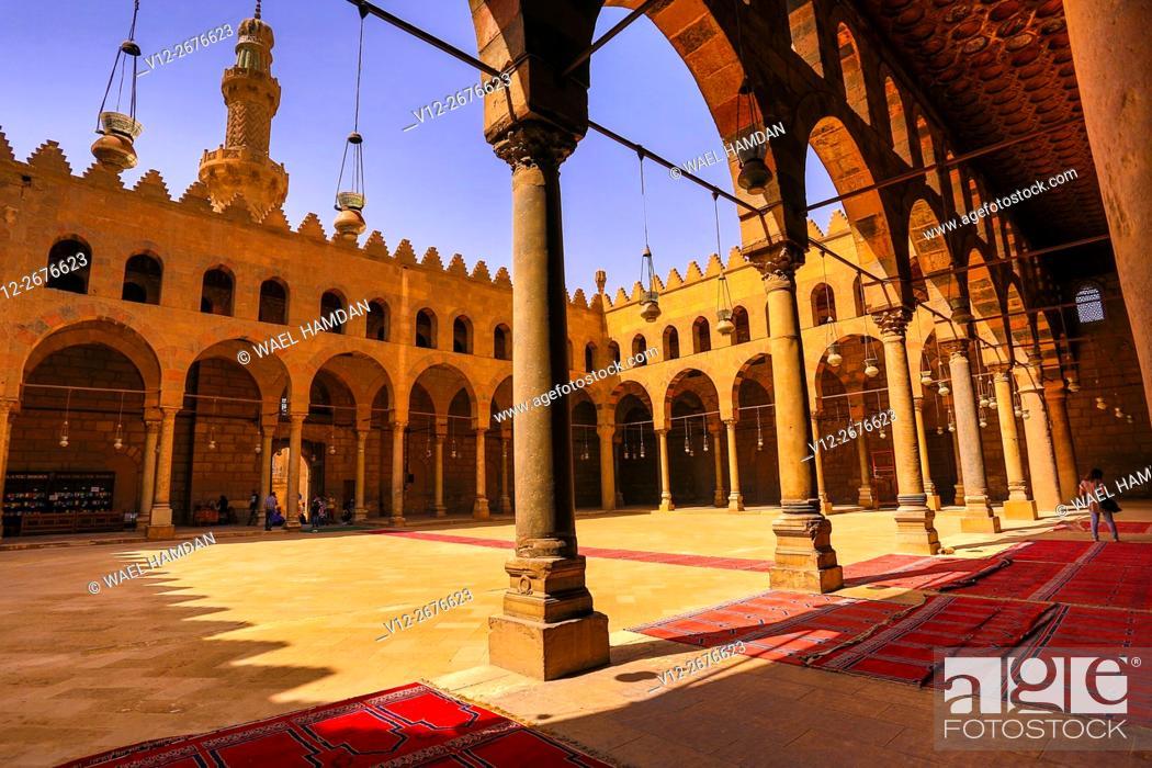 Stock Photo: Mosque of Al-Nasir Muhammad ibn Qala'un at the Citadel in Cairo, Egypt.