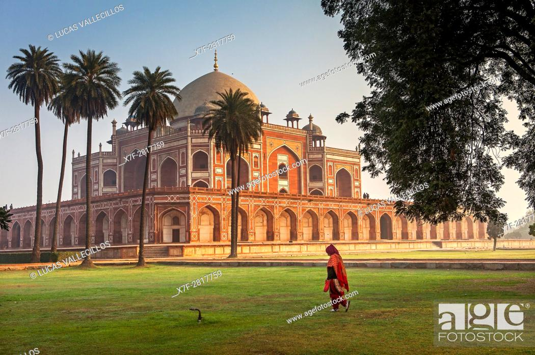 Photo de stock: Humayun's tomb, Delhi, India.