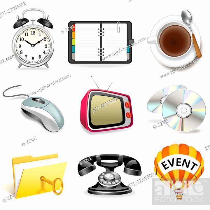Stock Photo: Business icon set.