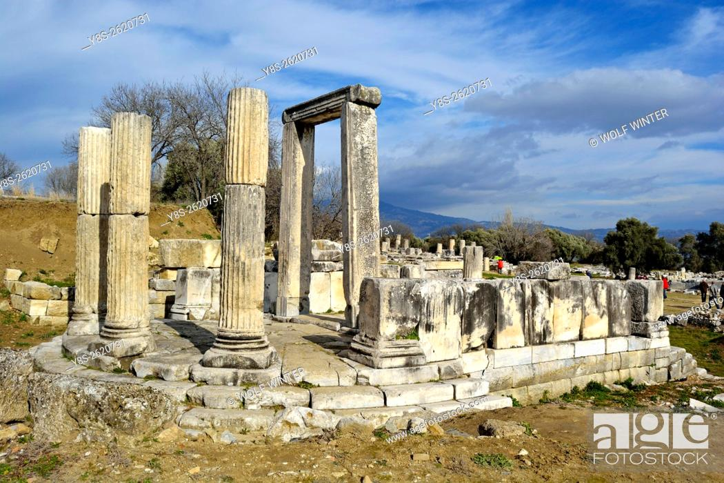 Stock Photo: Lagina Temple of the fairly unknown goddess Hercate near Yatagan, Western Anatolia, Turkey.