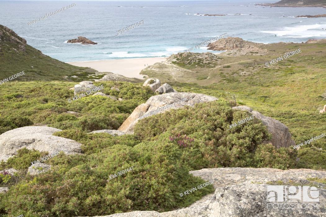 Stock Photo: Forcados Point Beach; Costa de la Muerte; Galicia; Spain.