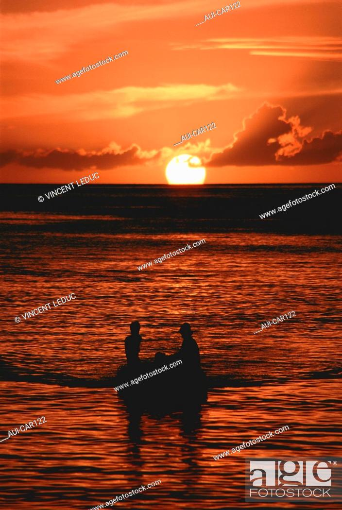 Stock Photo: French Caribbean - Caribbean Islands - Guadeloupe - Basse Terre - Marigot - The Boat Cove.