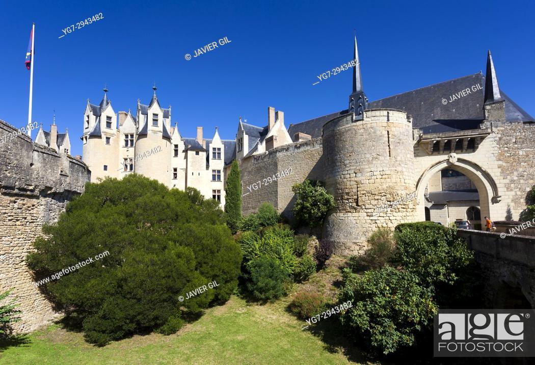 Stock Photo: Castle of Montreuil Bellay, Maine et Loire Department, Pays de la Loire Region, Loire Valley, France.