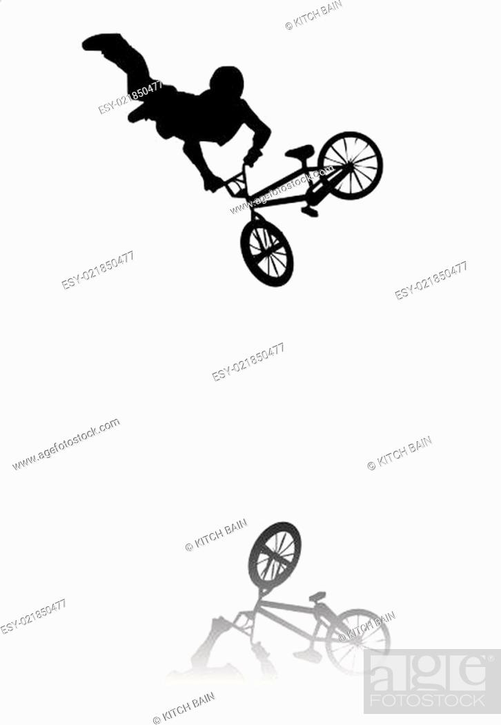 Stock Photo: BMX Silhouette.