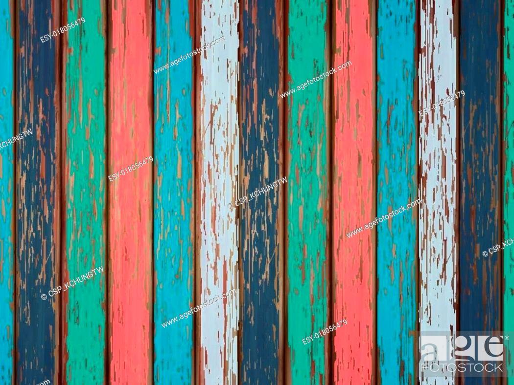 Vecteur de stock: colorful painted wooden background.
