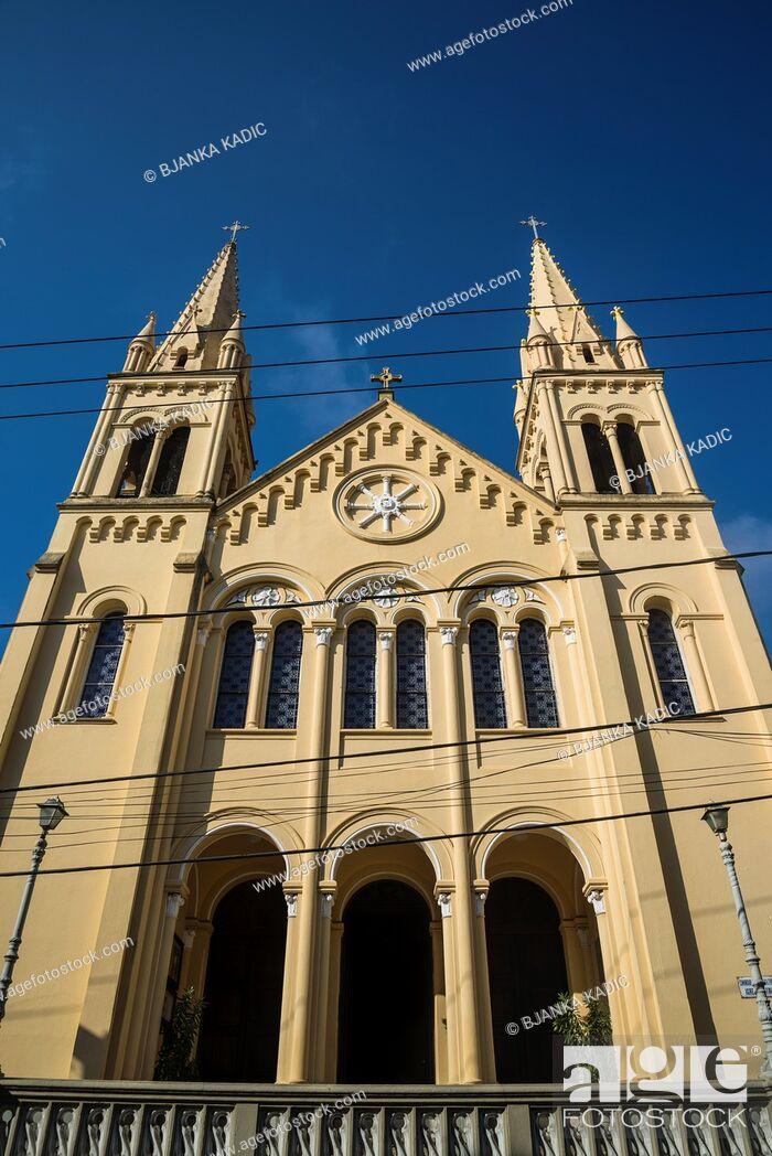 Stock Photo: Church, Santa Teresa, Rio de Janeiro, Brazil.