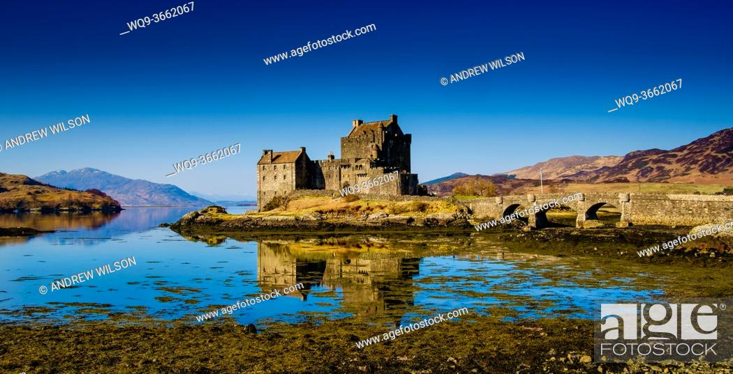 Stock Photo: Eilean Donan Castle on Loch Duich, Scotland.