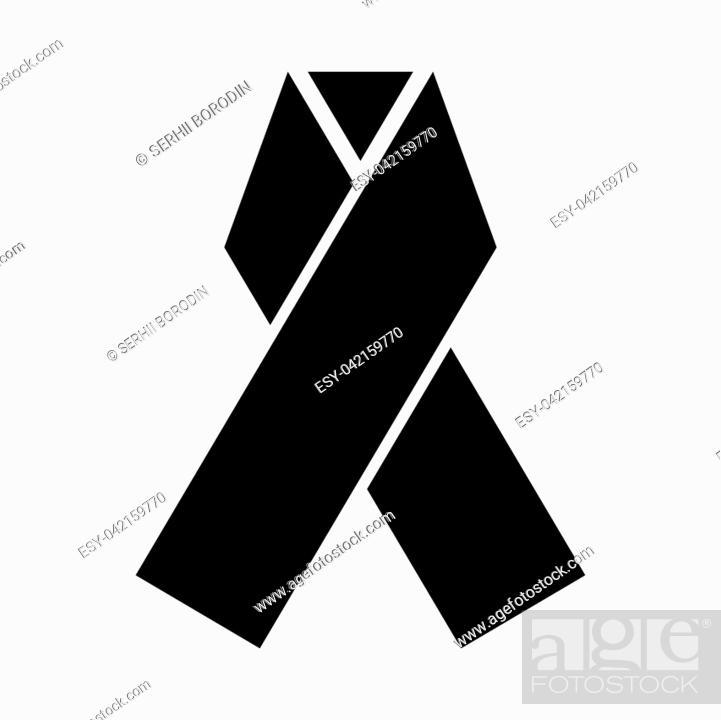 Vector: Ribbon it is black color icon .