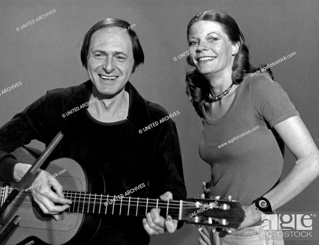 Imagen: Songs und Geschichten, Musiksendung, Deutschland 1970er Jahre, Mitwirkende: Katrin Grimm und Don Paulin.
